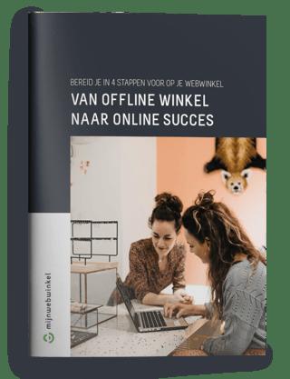 Cover van offline winkel naar online succes